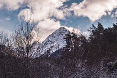 Italian alps. During winter Royalty Free Stock Photo