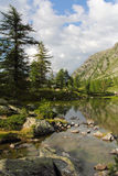 Italian Alps lake of Arpy Royalty Free Stock Photography