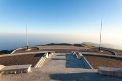 Italian alps landmark. First world war memorial. Grappa mountain royalty free stock photo