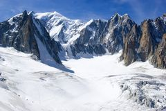 Italian Alps Mont Blanc Stock Photo