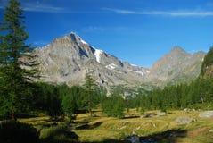Italian Alps. Monte Leone, Alpe Veglia. Alpine landscape by Alpe Veglia - Simplon pass, Divedro valley, Piedmont, Italy royalty free stock image