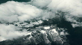 Italian Alps. Picture of italian Alps made from a plane Royalty Free Stock Image