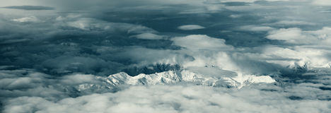 Italian Alps. Picture of italian Alps made from a plane Royalty Free Stock Photography