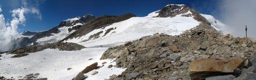 Italian alps; Rifugio Gnifetti Stock Images