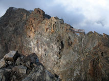Italian alps; Rifugio Q. Sella Royalty Free Stock Images