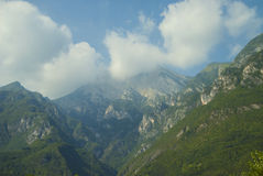 Italian Alps on a sunny summer day. Royalty Free Stock Image