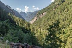 Italian Alps Valley, Italy Stock Photo