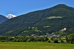 Italian Alps-view to castle Montechiaro Royalty Free Stock Photos