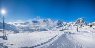 Italian Alps in the winter Royalty Free Stock Photography