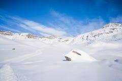 Italian Alps in the winter Stock Image