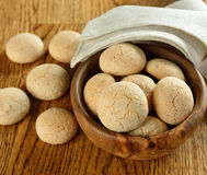 Italian amaretti cookies Stock Photos