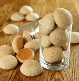 Italian amaretti cookies Stock Photo