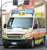 Italian ambulance runs during a medical emergency Royalty Free Stock Photos