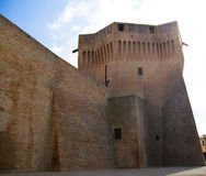 Italian ancient stone fortress. View of italian old fortress in Mondavio Royalty Free Stock Image