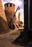 Italian ancient stone fortress. View of italian old fortress in Mondavio Royalty Free Stock Photo