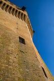Italian ancient stone fortress. View of italian old fortress in Mondavio Stock Photos