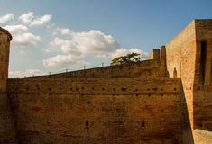 Italian ancient stone fortress. View of italian old fortress in Mondavio Stock Photography