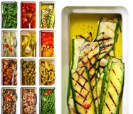 Italian antipasti Grilled Zucchini Royalty Free Stock Images