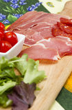 Italian antipasti Stock Images