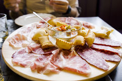Italian antipasti Stock Images