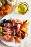 Italian antipasto Royalty Free Stock Photography