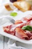 Italian antipasto with mortadella of bologna Stock Photos