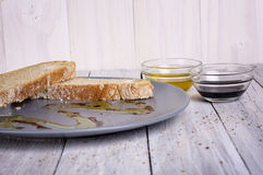 Italian Appetizer Bread Olive Oil Stock Photo