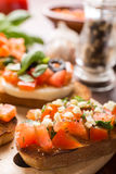 Italian Appetizer Bruschetta Stock Images
