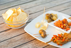 Italian appetizer. happy hour Stock Photo
