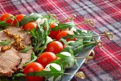 Italian appetizer snacks Royalty Free Stock Photos