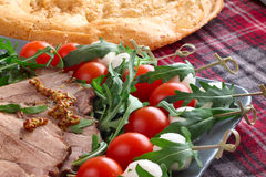 Italian appetizer snacks Royalty Free Stock Images