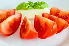 Italian appetizer tomatoes Stock Photo