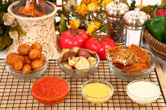 Italian Appetizers And Sauces Stock Images