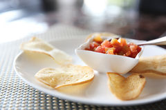 Italian appetizers food , bruschetta slices of toasted baguette Royalty Free Stock Images