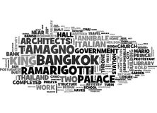 Italian Architects In Bangkok Monuments To Their Artistry Word Cloud Concept. Italian Architects In Bangkok Monuments To Their Artistry Text Background Word vector illustration