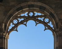 Italian Architectural arch and entrance door Royalty Free Stock Photography