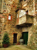 Italian Architecture. A view of an old house with traditional architecture in Toscana, Italy stock images
