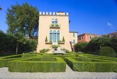 Italian architecture in Bardolino Stock Photo