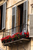 Italian Architecture and Decorative Balconies Royalty Free Stock Images