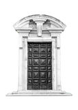 Italian architecture detail. Old medieval style front door Stock Image