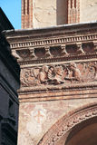Italian architecture, frieze in Bologna Royalty Free Stock Photography