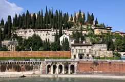 Italian architecture on a hill in Verona Royalty Free Stock Photography
