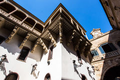 Italian architecture style in Salamanca, Spain Royalty Free Stock Photography