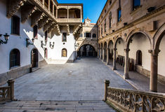 Italian architecture style in Salamanca, Spain Royalty Free Stock Photos