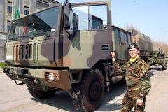 ITALIAN ARMY. WAITING TO DEPART Stock Photos