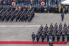 Commemoration of the centenary celebration with the Italian air force' Stock Image