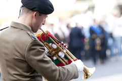 Italian Army bugler. During the Italian Armed Forces Day, November 4 Stock Photos