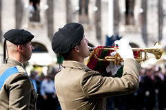 Italian Army bugler. During the Italian Armed Forces Day, November 4 Royalty Free Stock Images