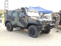 Italian Army Jeep Royalty Free Stock Photography