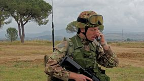Italian Army. Military Exercise. stock video footage